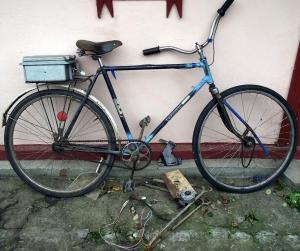Из обычного велосипеда - супер байк!