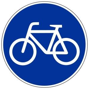 Знак, разрешающий проезд велосипеда