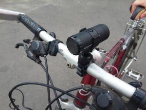 Регистратор на велосипеде