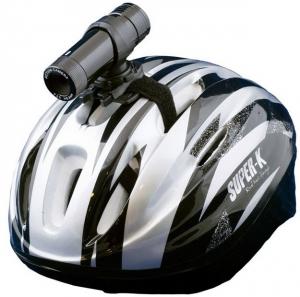 Регистратор на велосипедном шлеме