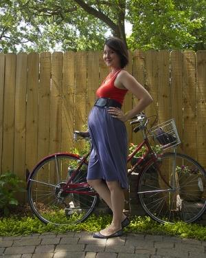 На велосипеде во втором триместре