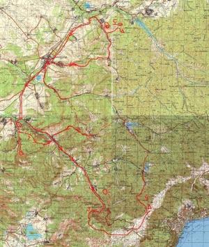 Карта веломаршрута