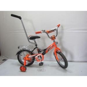Детский четырехколесный велосипед с ручкой