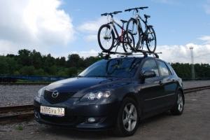 Перевозка велосипеда на крыше
