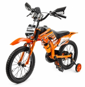 Оранжевый велосипед для мальчика
