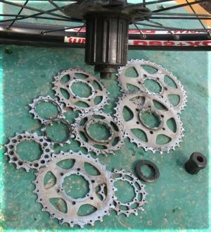 Кассета велосипеда для цепи