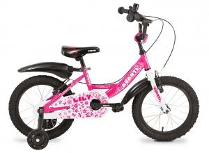 Розовый детский велосипед