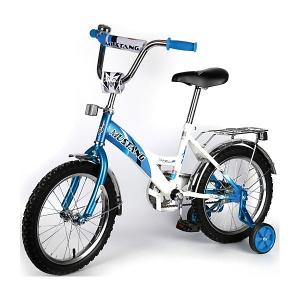 Синий детский велосипед