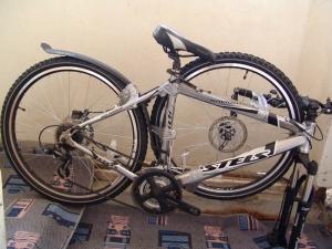 Сложенный велосипед