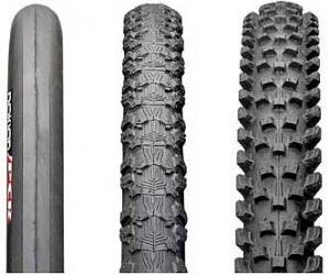Различные виды покрышек на велосипед