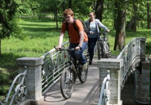 Велосипедисты в Санкт-Петербурге