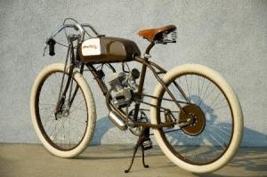 Ретро велосипед Derringer с двигателем