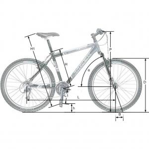 Размерность колес относительно велосипеда